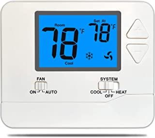 Suuwer SW701 Conventional (Single-Stage 1Heat /1Cool) Non-Programmable Thermostat