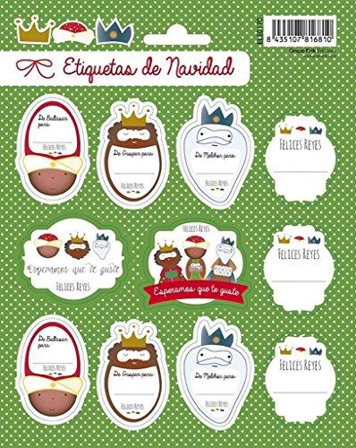 Erik- Navidad Felices Blister con 2 Hojas de Etiquetas Reyes Magos (ELE0170)