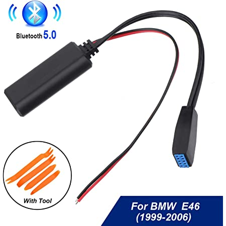 10 Pin AUX Audio Cable Adapter Bluetooth w// Mic for BMW 3-series E46 Business CD