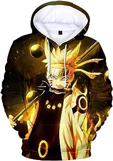 Bettydom Unisex Hoodies Sweatshirt Outerwear with The Japanese Anime Naruto for Men Women