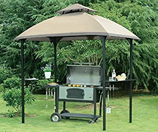 Sunjoy 110109108 Replacement Canopy Tent for Windsor Grill Gazebo Deluxe Version, Ginger Snap