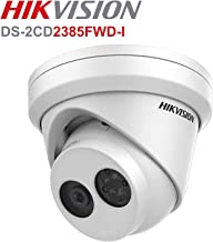 Hikvision 8 Megapixel IP Camera, H.265+ DS-2CD2385FWD-I Dome Security Camera Outdoor IP67 Firmware Upgradeable International Version (4mm Lens)