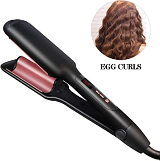 Women Hair Curler, Professional Ceramic Hair Curling Iron, Women Salon Styling Tools With LCD Display For All Types Hair Black