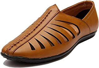 Amico Men's Leather Looks Loafer TAN