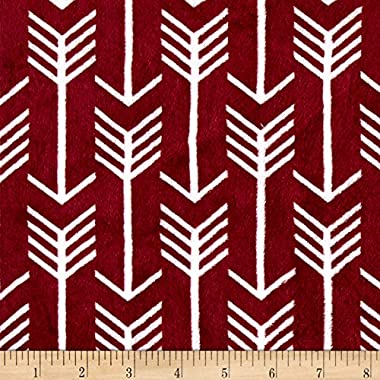 Shannon Fabrics Premier Prints Minky Cuddle Archer Fabric by The Yard, Merlot/Snow