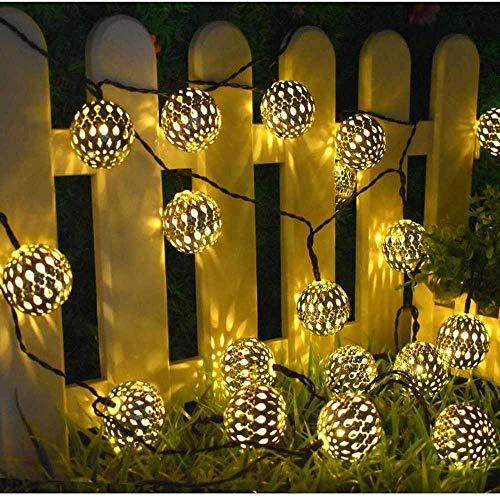 NOBRAND 10/20 Led Bola Marroquí Luces De Cadena Solares Globo De Hadas Luz De Linterna Impermeable Iluminación Decorativa para Decoración De Fiesta De Jardín