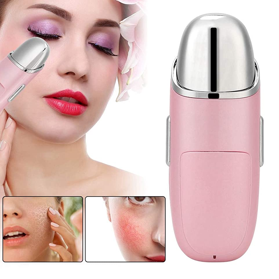 操作用心深いレーダー女性のための電気目の顔のマッサージャーの美用具(ピンク)