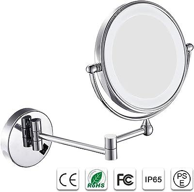 Amazon Com Miusco 7x Magnifying Lighted Makeup Mirror