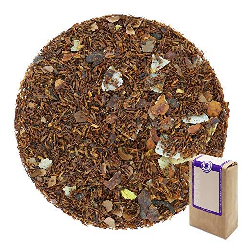 Sabor: suave, completo, con sabor a chocolate Preparación: 3-4 cucharaditas (10-12g) por 1 litro de agua, temperatura del agua 100°C, tiempo de infusión 3-5 minutos. Ingredientes: rooibos, cáscara de cacao, virutas de coco, sabores. _ GAIWAN GERMANY:...