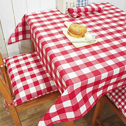 TRE American Einfachheit Dorf Tischwäsche/Pastorale gepolstert wasserdicht rot und weiß-karierten Tischdecke/Tischdecke decke/ Quadrat Runde Tischdecke-A 140x180cm(55x71inch)