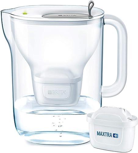 Brita Filtro de agua, estilo XL, incluye 1 cartucho de filtro Maxtra+, Embudo: SMMA, gris claro, 23.5 x 13.5 x 25 cm