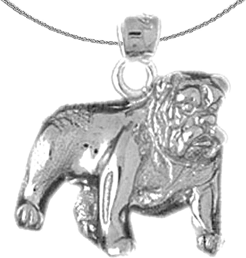 Jewels Obsession Gold Bulldog Necklace supreme 14K Long-awaited White