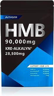 MAGINA HMB 90,000mg クレアチン 95,000mg相当 高純度 クレアルカリン サプリメント グルタミン アミノ酸 筋トレ ダイエット HMBクレアルカリン, 1袋30日分 マギナ