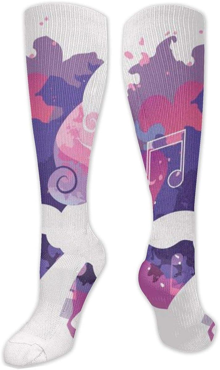 Little Pony Sweetie Belle Music Knee High Socks Leg Warmer Dresses Long Boot Stockings For Womens Cosplay Daily Wear