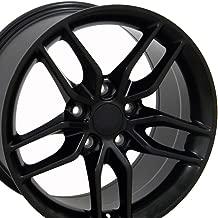 OE Wheels 18 Inch Fits Chevy Corvette Camaro Pontiac TransAm C7 Stingray Style CV27B 18x8.5 Rims Satin Black SET