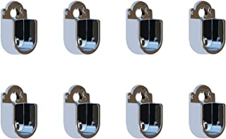 Lot de 8 supports de barre de suspension en métal pour penderie, 37 mm x 22 mm x 14 mm pour 16 mm