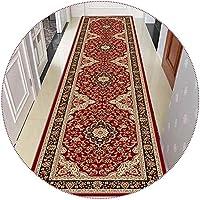 廊下敷きカーペット 廊下の階段の入り口の装飾用ヴィンテージランナーラグ、0.6cmの厚さの伝統的な狭い床マット、長さ100/200/300/400/500cm (Size : 1.2×2m(47× 78.7 in))