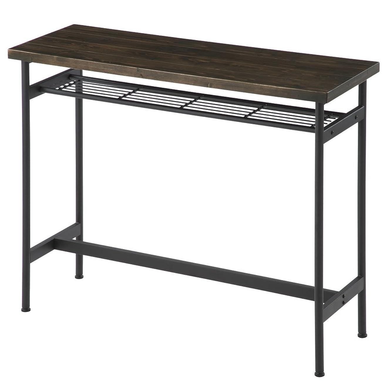 パスタ論理的にインカ帝国ぼん家具 カウンターテーブル ヴィンテージ風 バーテーブル ハイテーブル デスク ウォールナット
