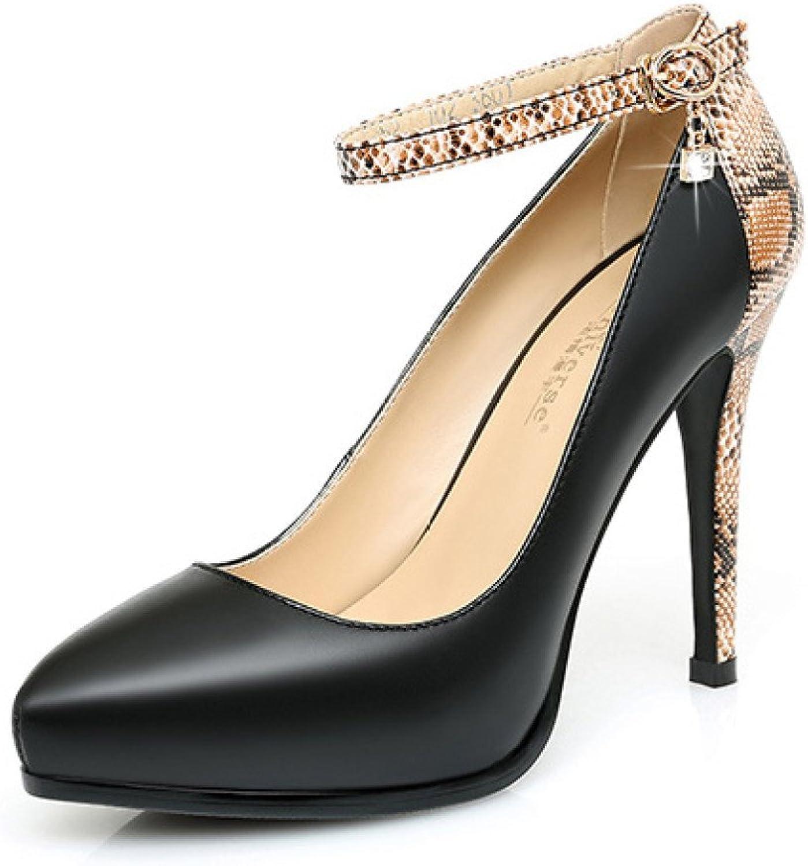 ALBOC Frauen Sexy High Heels Arbeiten Braut Strass 11 CM Pumps Damen Klassisch 1 Spitz Schuhe