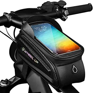 Binudum Bike Bag Front Frame Waterproof Cycling Top Tube Bicycle Phone Mount Sun Visor Large...