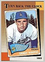 1990 Topps #665 Sandy Koufax 1965 Turn Back the Clock LOS ANGELES DODGERS HOF