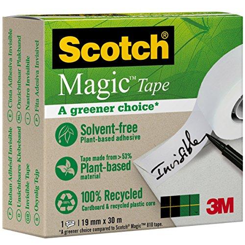 Scotch 90091930 Klebeband Magic, unsichtbar und beschriftbar, 19 mm x 30 m