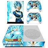 Vanknight Xbox One S Slim Console Remote Controllers Skin Set Vinyl Skin Decals Sticker Cover