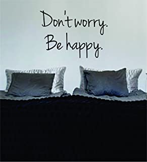 Dont Worry Be Happy Version 2 Bob Marley Quote Decal Wall Vinyl Art Sticker Music