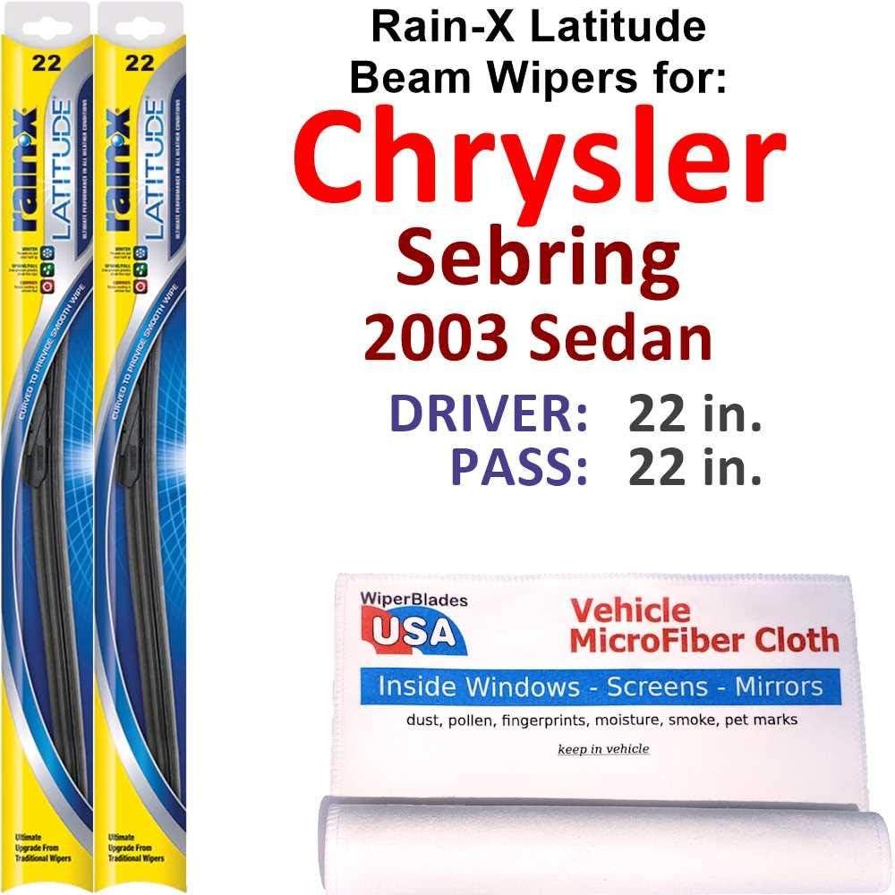 Ranking TOP1 Rain-X Latitude Beam Wiper Blades Chrysler 2021 spring and summer new Sebring Seda for 2003