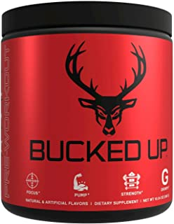 Bucked Up Pre Workout - Best Tasting - 6 Grams Citrulline, 2 Grams Beta Alanine Non Proprietary Blend, Powder (Strawberry ...