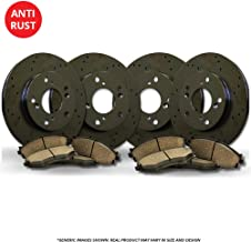 Ridgeline High-End 2 Cross-Drilled Disc Brake Rotors 5lug Front Rotors