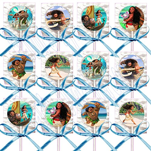 Moana Party Lollipops (Pack of 12)