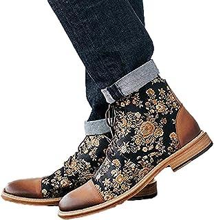 The Jack Boot in Eden Bottines à lacets pour homme avec imprimé à la cheville Style britannique rétro 49