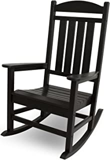 polywood r100bl presidential outdoor rocking chair black