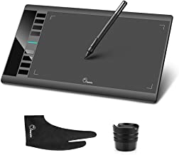 Parblo A610 Graphics Drawing Tablet with Battery-free Stylus pen and 10