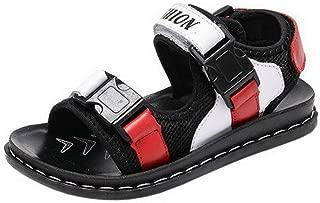 YiyiLai Boys Bog Kids Velcro Leather Sandal Leisure Summer Beach Shoes