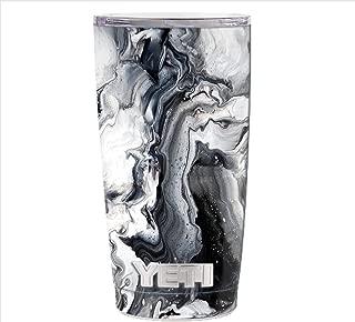 Skin Decal Vinyl Wrap for Yeti 20 oz Rambler Tumbler Cup Skins Stickers Cover / Marble White Grey Swirl Beautiful