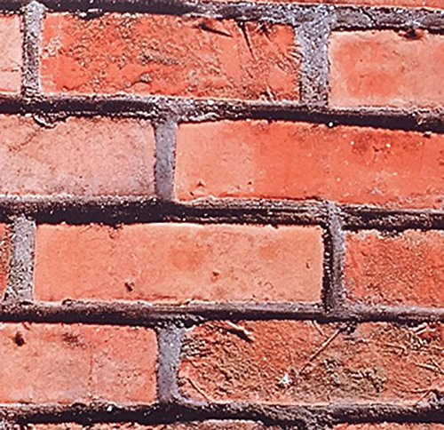 Klebefolie Möbelfolie Backstein Mauer - 90 cm x 200 cm Mauerwerk Motiv - Dekorfolie