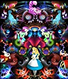 Edzxc- Classic Puzzle Decoration Puzzle Children Puzzle Intellective,Beautiful Giftgift For Kids and Adults Family Game Puzzle- Anime Alice In Wonderland(75X50cm)