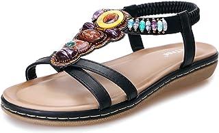 Sandalias Mujer Verano 2020 Planas Bohemia Sandalias Senderismo Planos Comodos Casual Chanclas Zapatos Mujer de Playa