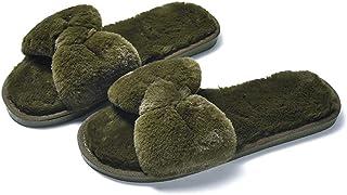 Zapatillas de Moda para Mujer Zapatillas Planas de Interior/Exterior Zapatillas de Terciopelo Coral Zapatillas Antidesliza...