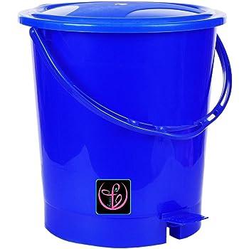 Fuscia™ Deluxe Plastic Dustbin 12L (Blue-P)