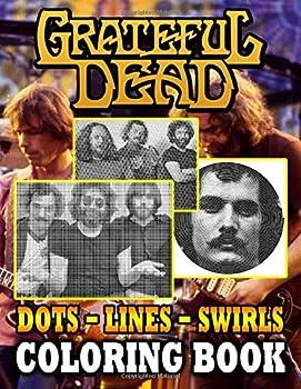 Grateful Dead Dots Lines Swirls Coloring Book  Excellent Grateful Dead Adult Swirls-Dots-Diagonal Activity Books