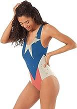 TUHUO Women's One-Piece Swimsuits Pizza Flag Backless Bikini Sexy Ladies Summer Beach Swimwear Bathing Suit
