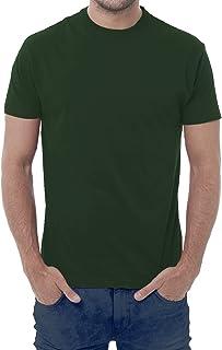 Camiseta de hombre – 100% algodón – 150 gramos – JHK Mod. TSRA 150 (48-50 XL EU Hombre, Verde botella)