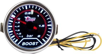 Mintice 2 52mm Led Licht Kfz Auto Universal Bar Turbo Schub Anzeige Instrument Gauge Rauchfarbe Len Auto