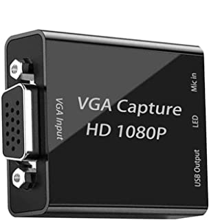 VGA キャプチャーボード 1080p30hz VGA to USB2.0 ビデオキャプチャカード HD 画質 ゲーム実況、録画 HDMIループアウト Windows / Linux / Mac OSX 対応 PC / PS3 /PS4 / X...