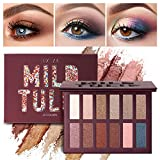 LUXAZA Eyeshadow Palette Matte Shimmer High Pigmented Eyeshadow Pallet 12 Colors Professional Makeup Nudes Warm Natural Long Lasting Waterproof Eye Shadow