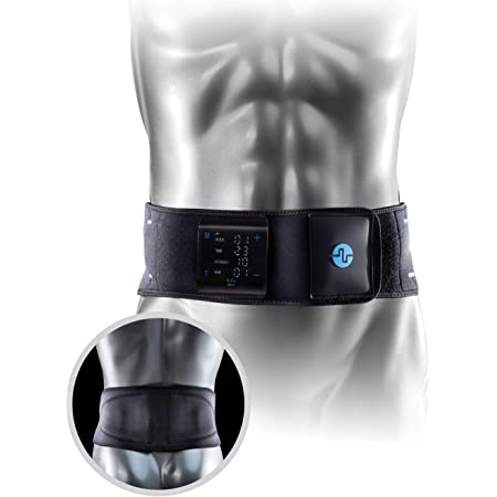Compex TENS/Heat Back Wrap, Black - Heated Back Wrap with TENS Unit for Back Pain - Large/X-Large