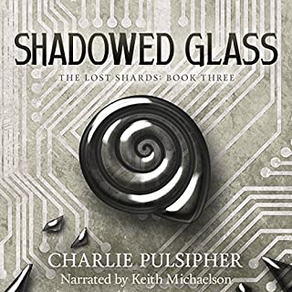 Shadowed Glass audiobook cover art